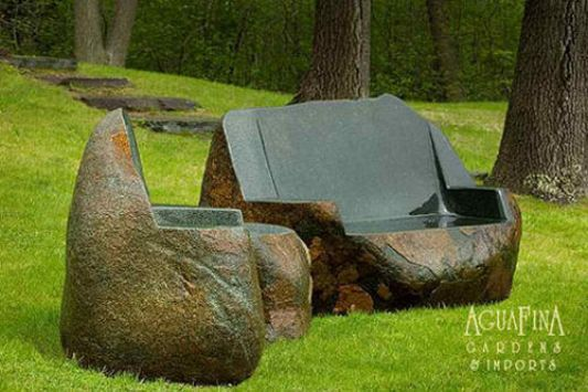 Amazing Idea Those Stone Chairs Are, Boulder Outdoor Furniture