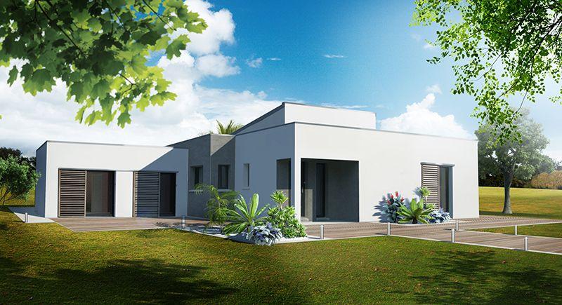 maison individuelle architecture contemporaine | perspective ... - Architecture Contemporaine Maison Individuelle