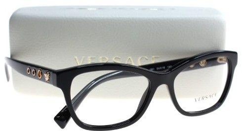 6e04191d51e Versace Women s Eyeglasses VE3225 VE 3225 GB1 Black Full Rim Optical Frame  54mm