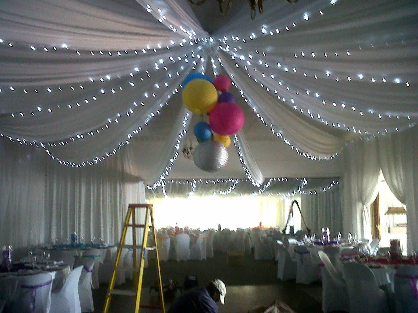 draping how pin roof events victoria hang november with ceiling fairy for cherry strip lights club plum wedding lake to drapes