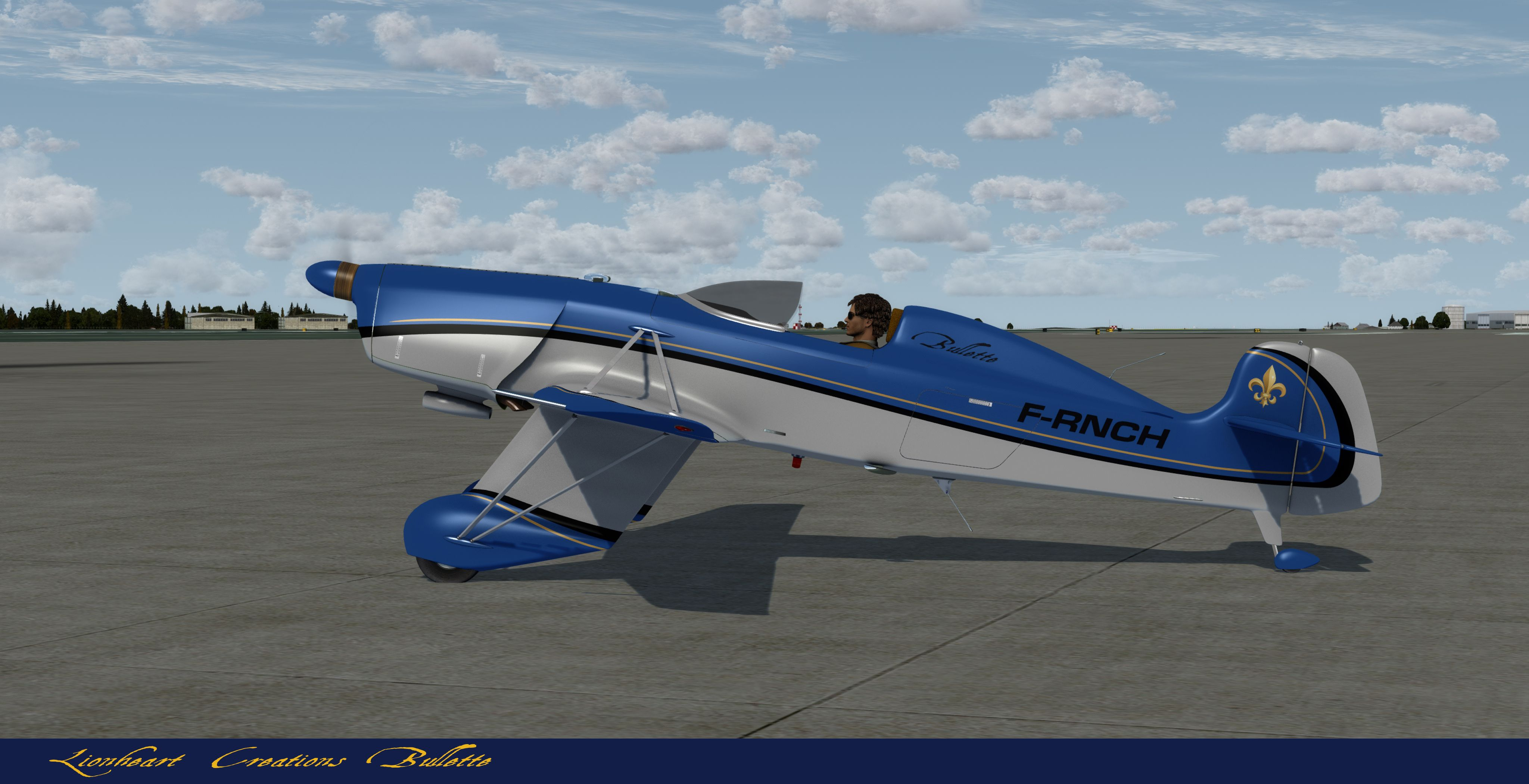 Blue And Gray Proton Bullette Aircraft Design Protons Flight Simulator