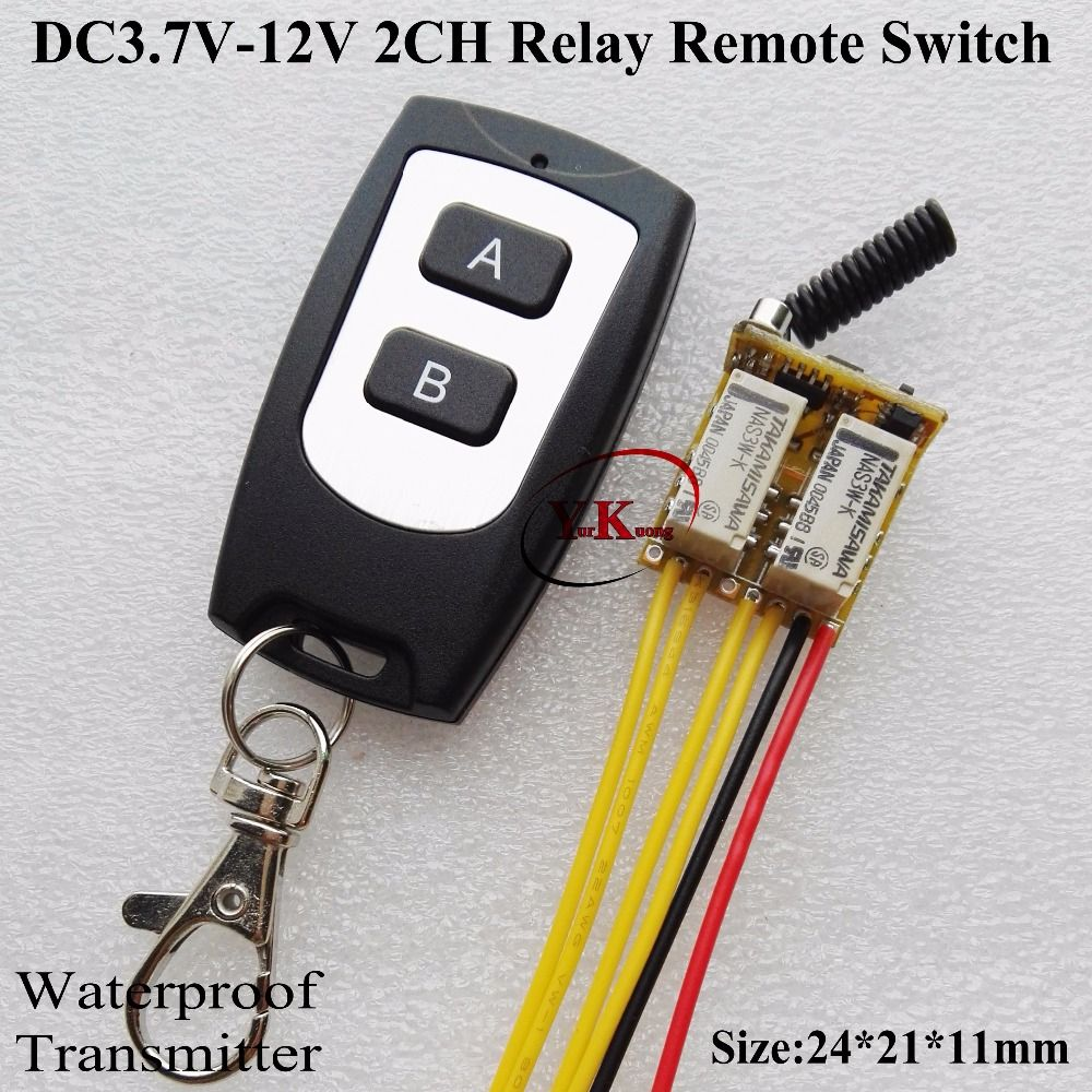Micro Relay Remote Switch 42v 45v 5v 6v 74v 8v 9v 12v 2ch 2a No Nc Contacts