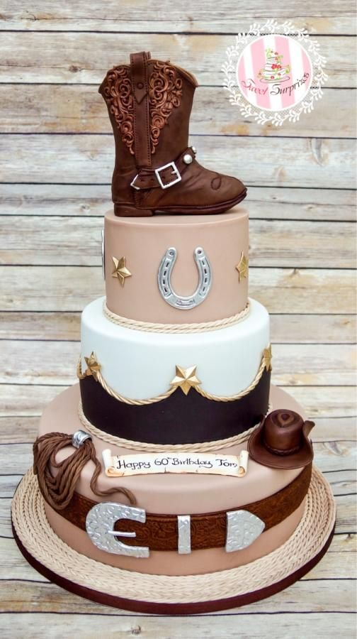 Wondrous Cowboy 60Th Birthday By Sweet Surprizes Western Birthday Cakes Funny Birthday Cards Online Inifodamsfinfo