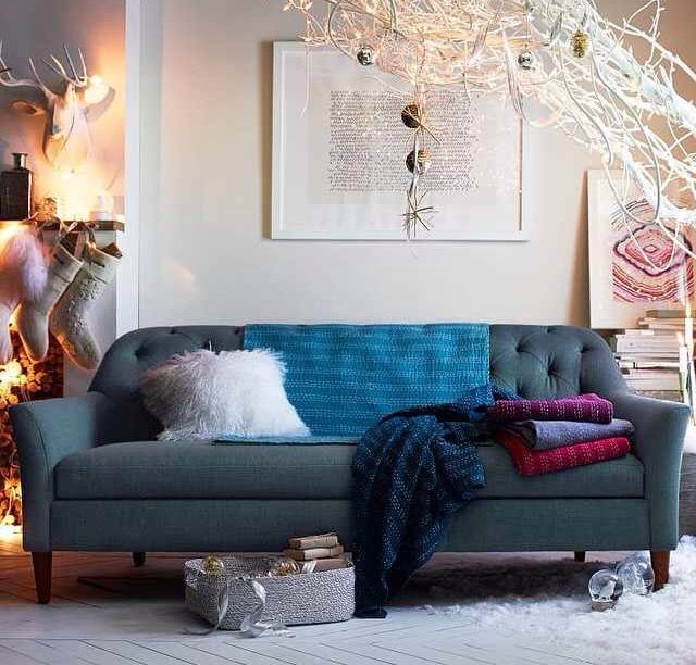 Pinrosylution On Homeliving Spaces  Pinterest  Living Alluring Blue Sofa Living Room Design Inspiration
