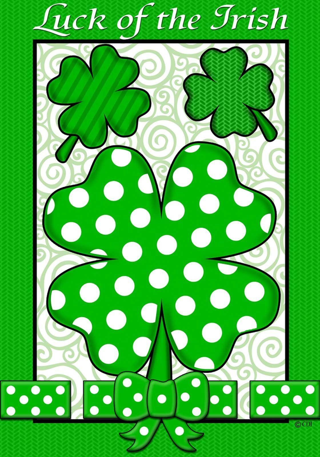 Custom Decor Original Art Luck of the Irish Garden Flag MPN: 1586FM ...