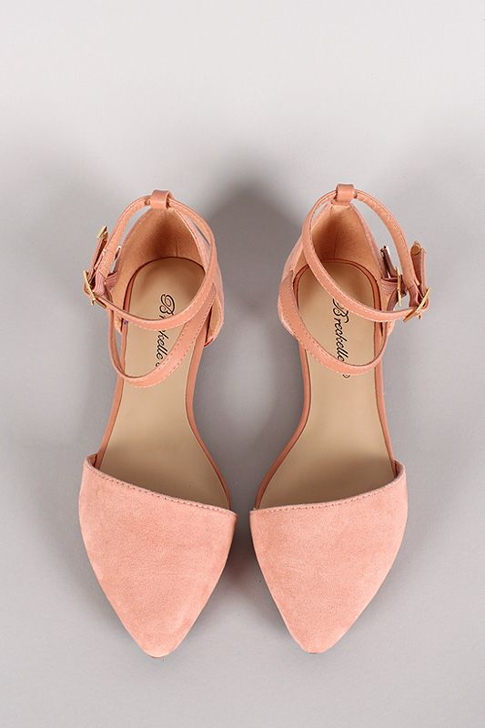 3eed23c52b332 Ankle Strap Pointy Toe Flat