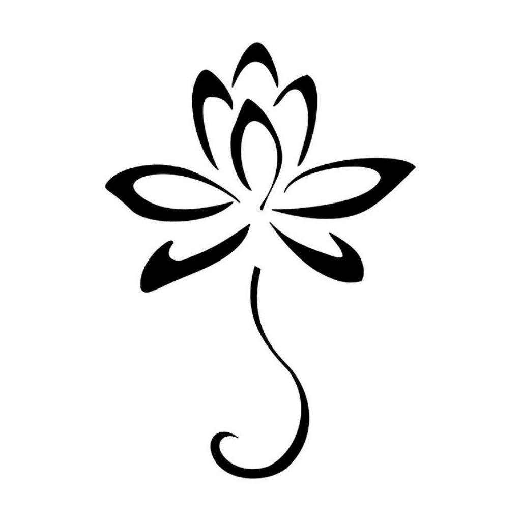 flower clipart black and white design