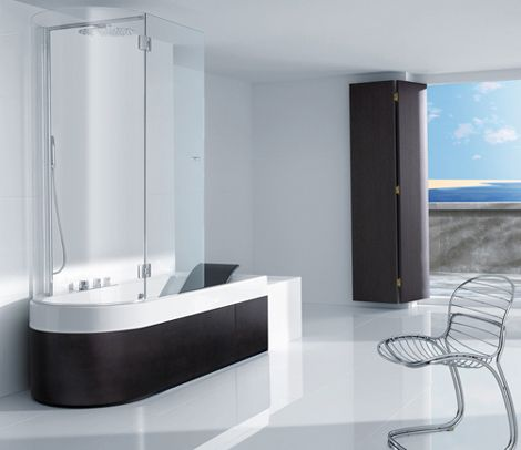 Modern Bathtub Shower shower tub combination from roca - happening combination | shower