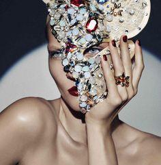 swarovski crystal mask - Google Search