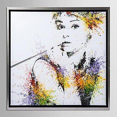 BuW Framed Canvas Art, Color splashes Audrey Hepburn with Stretched ...