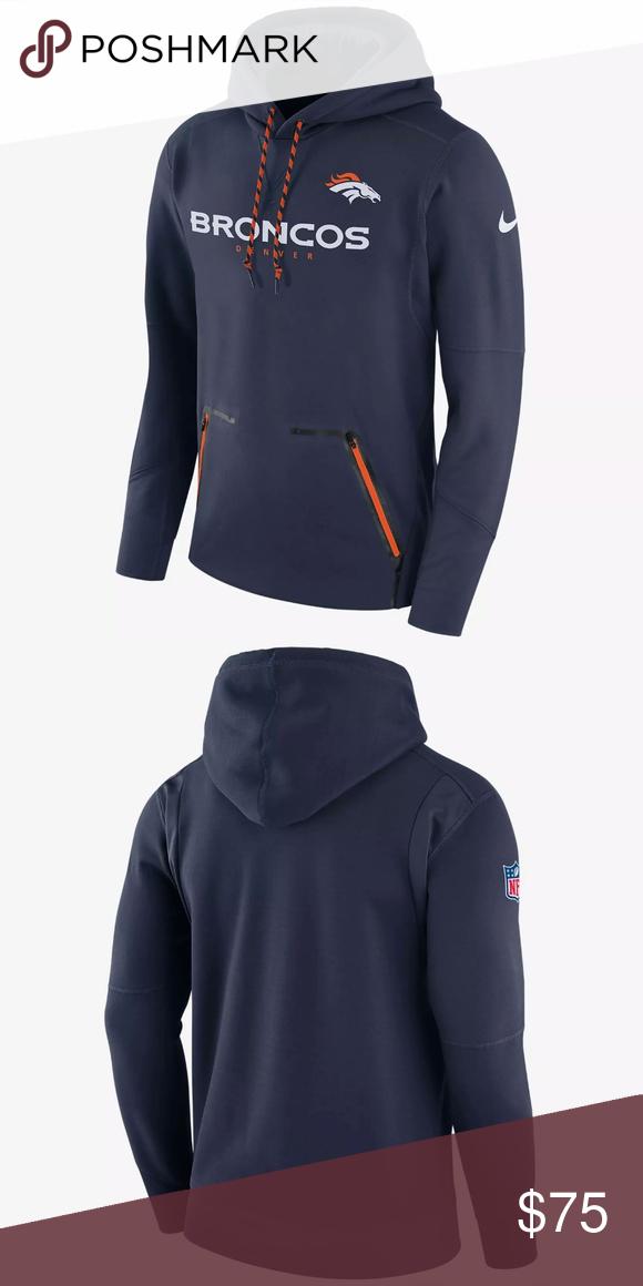 sale retailer 96b54 3d63c NFL Denver Broncos Nike Pullover Hoodie Sweatshirt Brand New ...