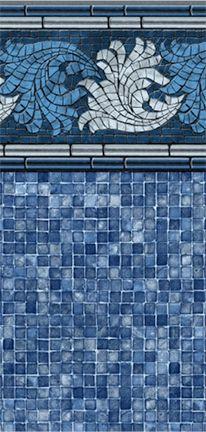 Riviera Blue Mosaic Platinum Inground Onground Liner