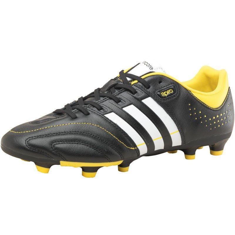 size 40 11e18 e4aad adidas Mens 11Core TRX FG Football Boots BlackWhiteYellow