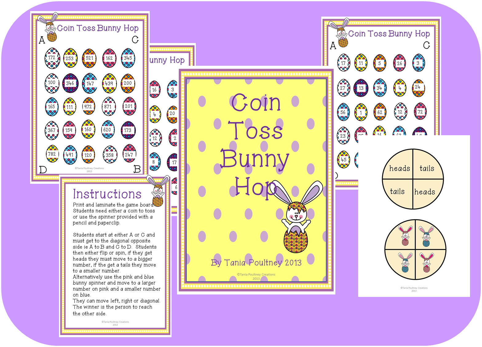 Chance Coin Toss Bunny Hop Easter Game