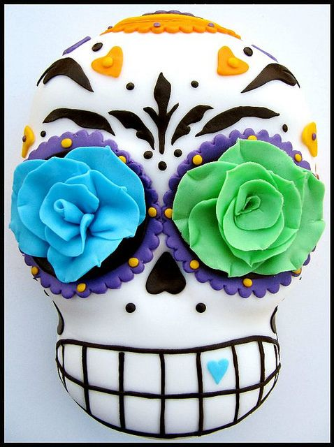 how to make a candy skull cake