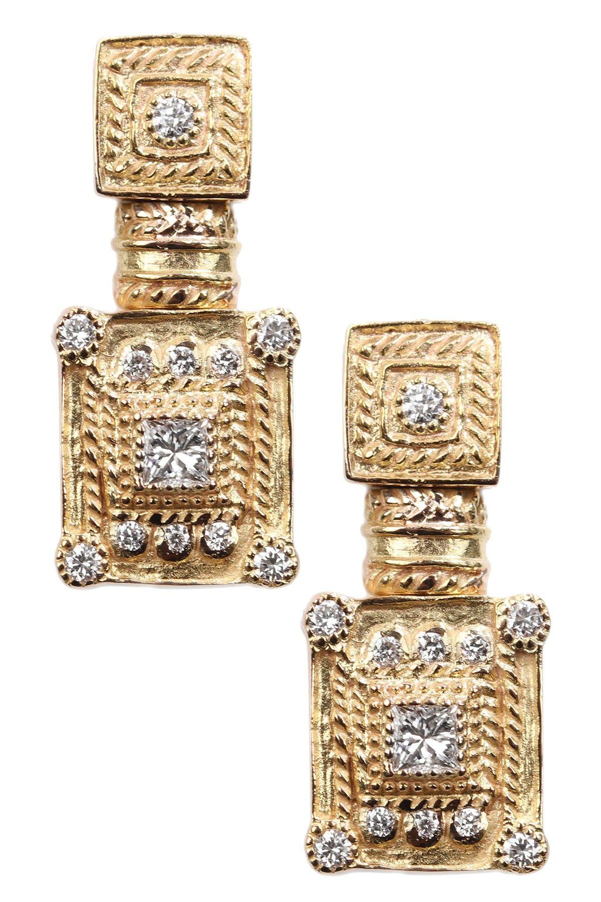 Versace watches charriol k yellow gold diamond textured double