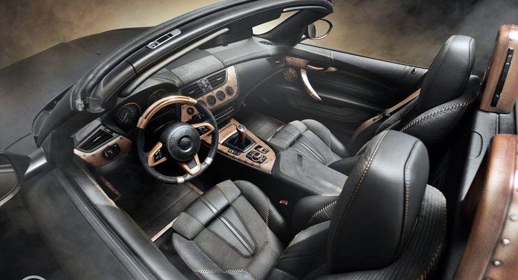 This BMW Z4 Interior Has Been Steampunk'd by Carlex Design...Nice...