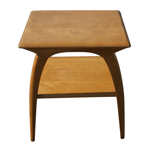 "22"" vintage heywood wakefield two tier side table 