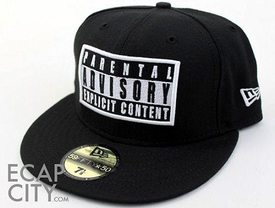 the latest 46c5a 444c5 Parental Advisory Explicit lyrics New Era fitted hat