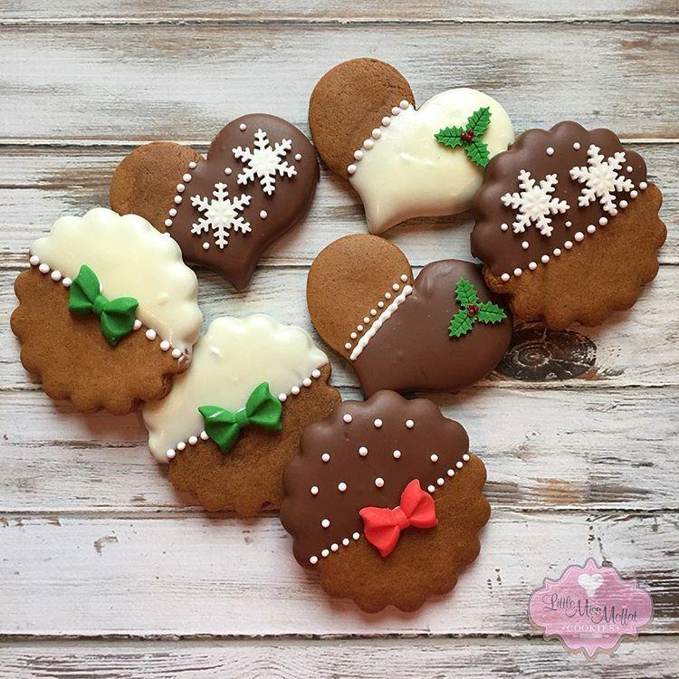 "Laura Moffat on Instagram: ""Mmmm...chocolate covered gingerbread . #littlemissmoffatcookies #gingerbread #christmascookies"""