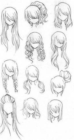 Gabaritos De Cabelos Desenhos De Cabelos E Como Desenhar