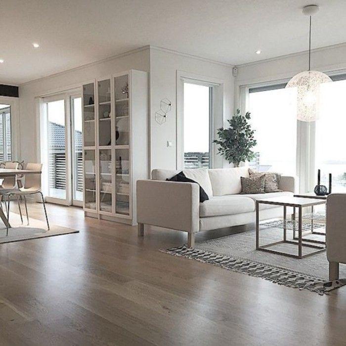 Sala de estar espaciosa casas nordicas colores de pastel Quiero estudiar diseno de interiores