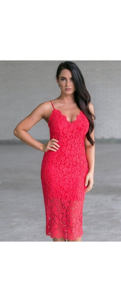 5c0dd62cf84b Lily Boutique Game Changer Red Lace Midi Dress, $50 Red Lace Midi Dress,  Cute Red Dress, Red Lace Dress Online, Lace Cocktail Dress  www.lilyboutique.com