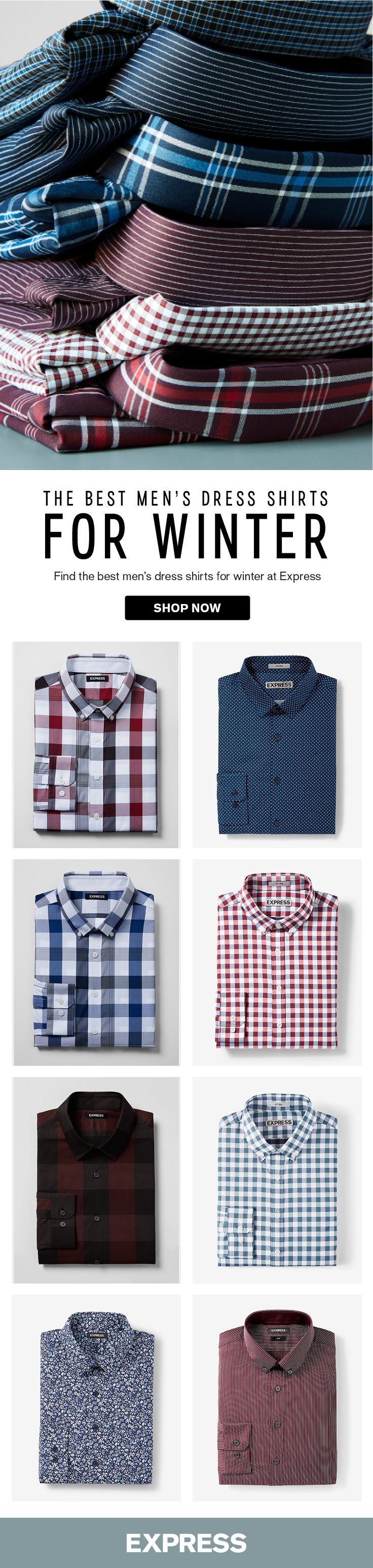 Whether you like patterns or solids, Express has the best men\'s ...