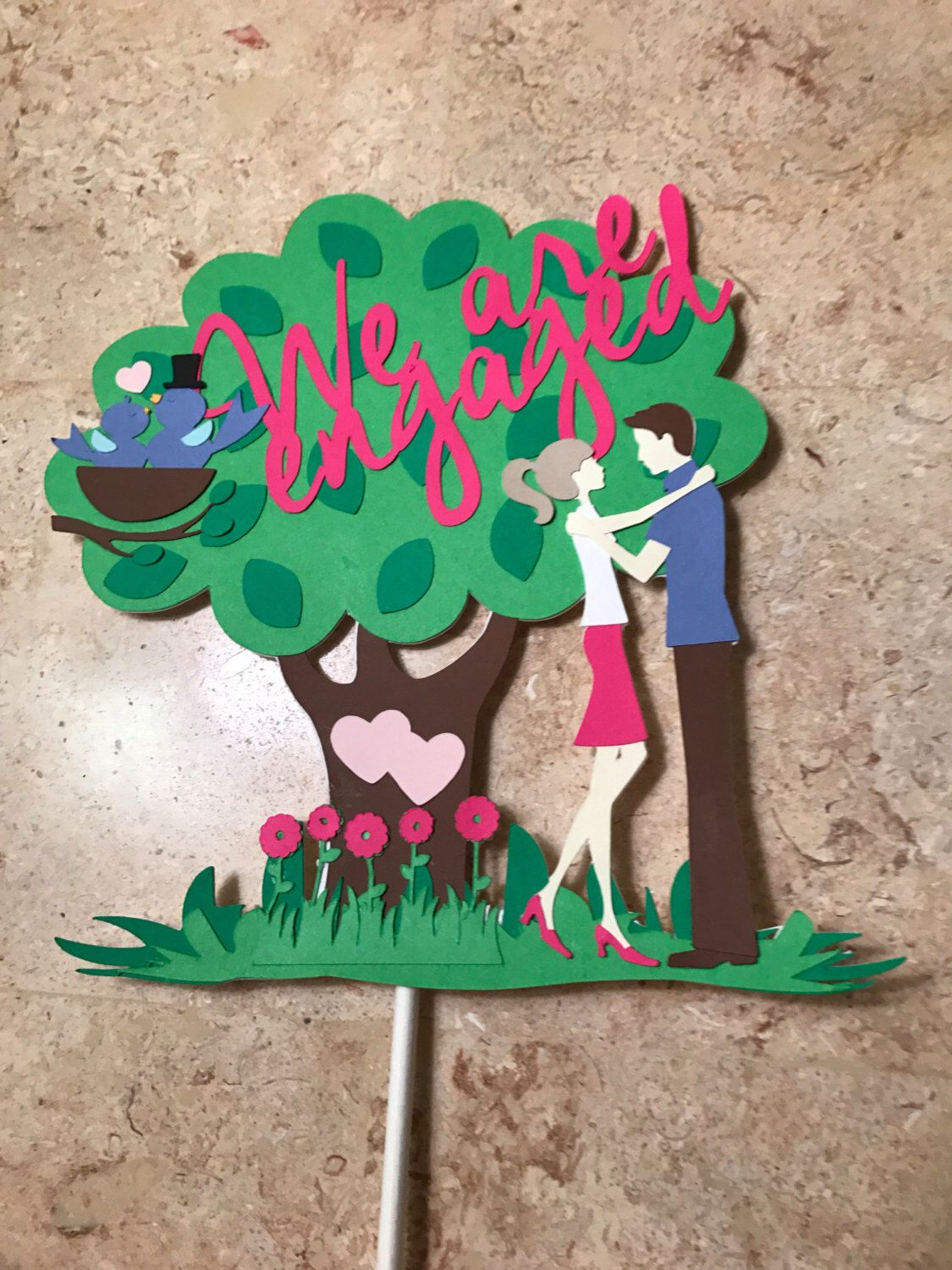 we are engaged cake topper engagement party