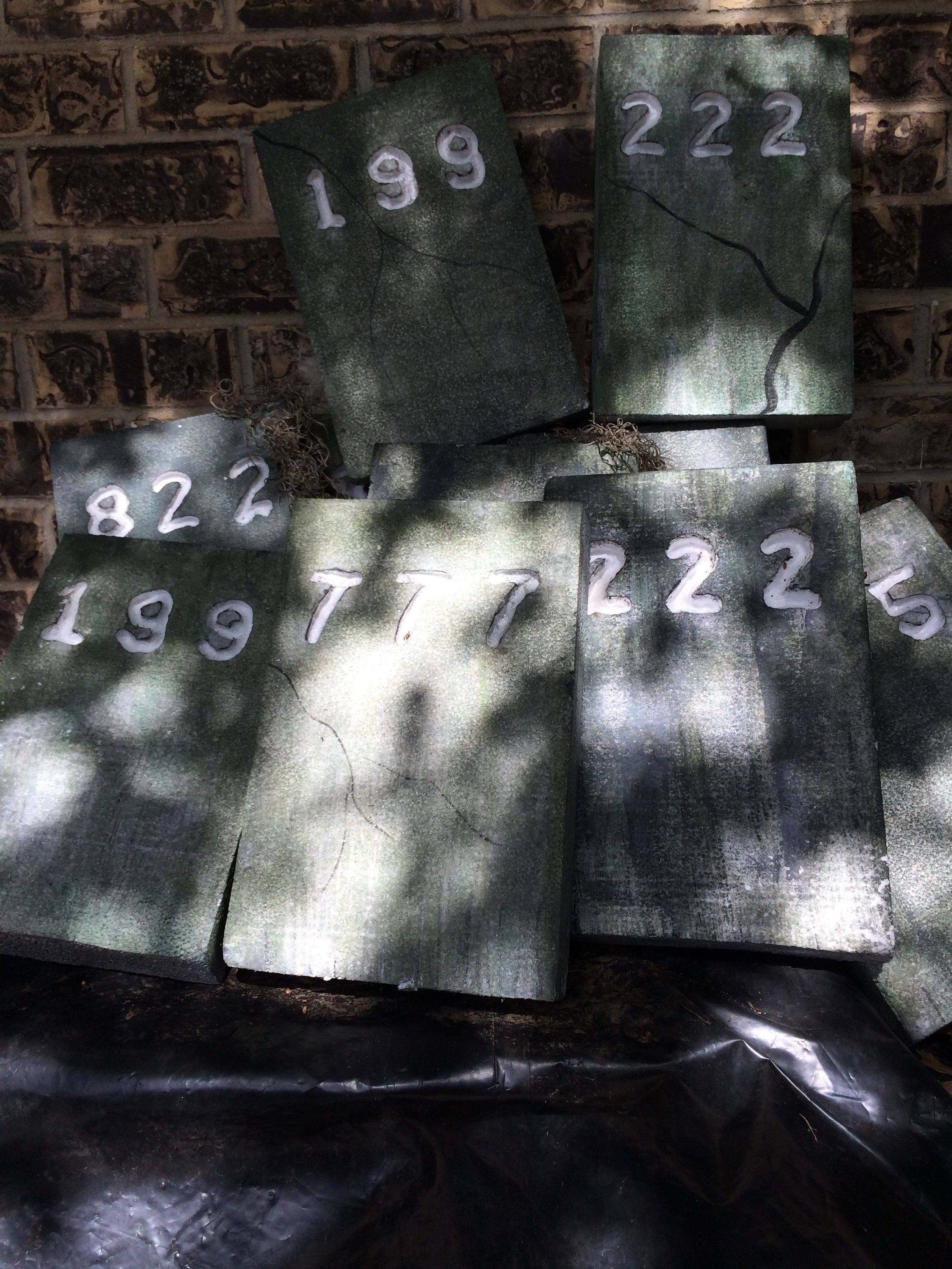 grave stones for the yard | Haunted Insane Asylum Party ...