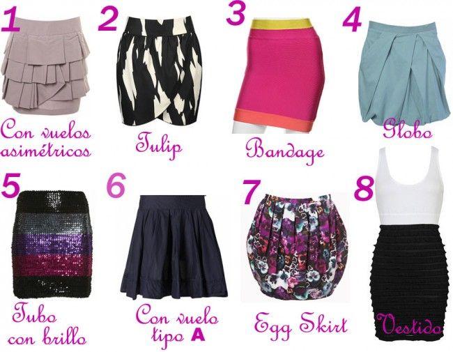 f35b867b4 Tipos de faldas y nombres   My Style   Faldas, Tipos de faldas y ...