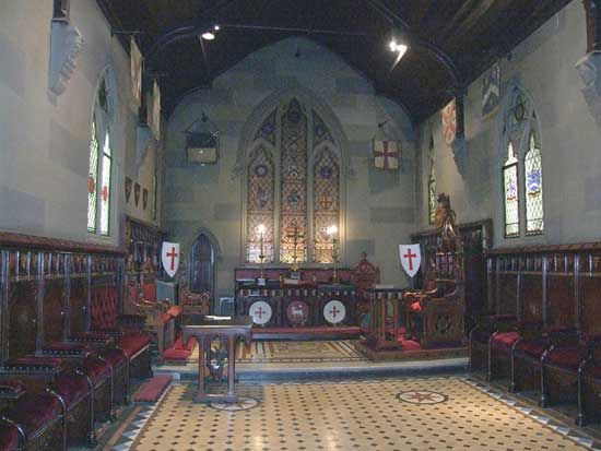 Knight Templar Preceptory room, Grand Lodge of Ireland