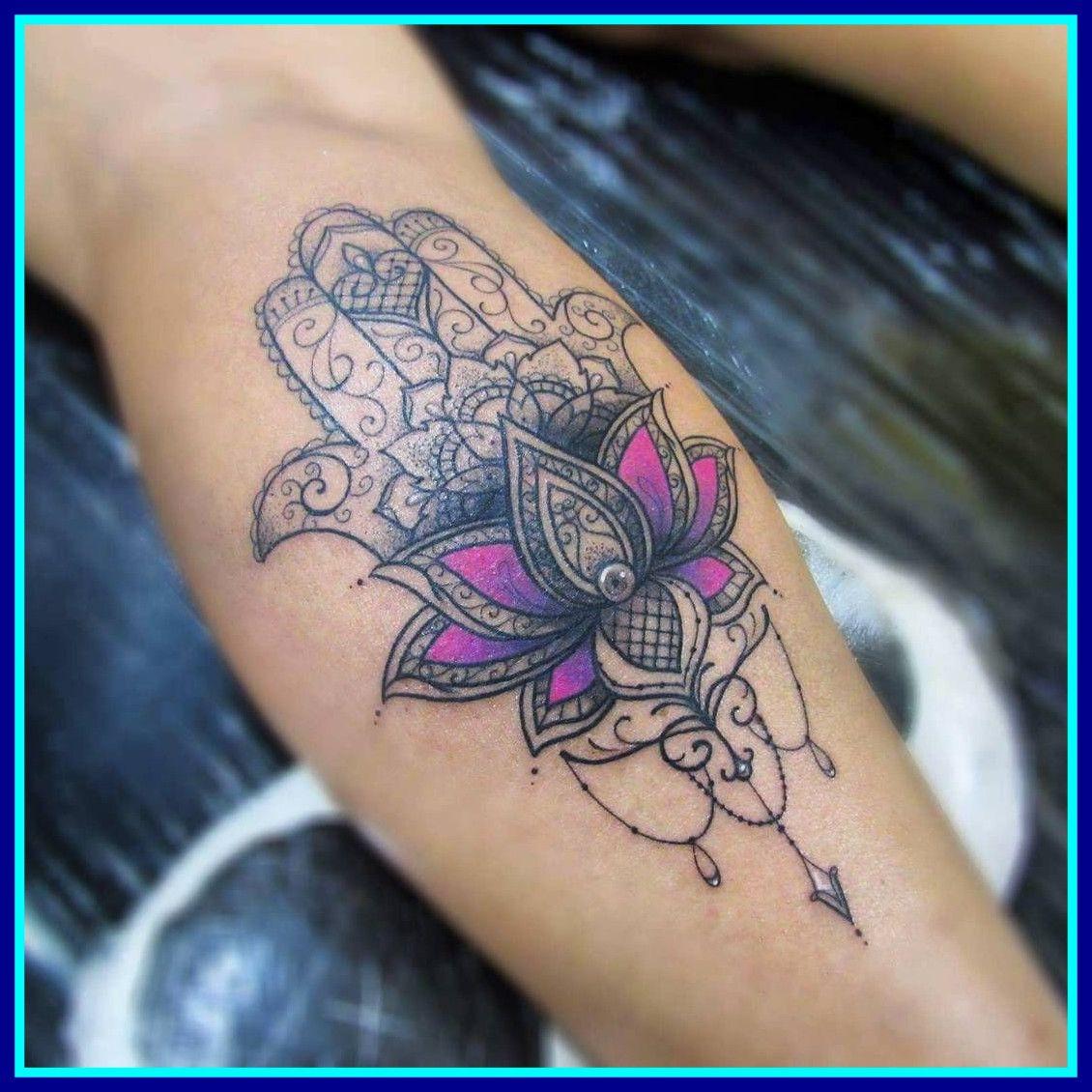 Shoulder Lotus Flower Tattoo ... | Hamsa tattoo, Hamsa ...