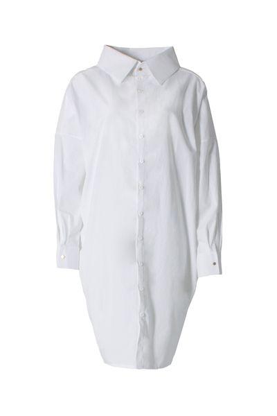 LUXAA Statement Kleid Aus Bio-baumwolle - Weiß