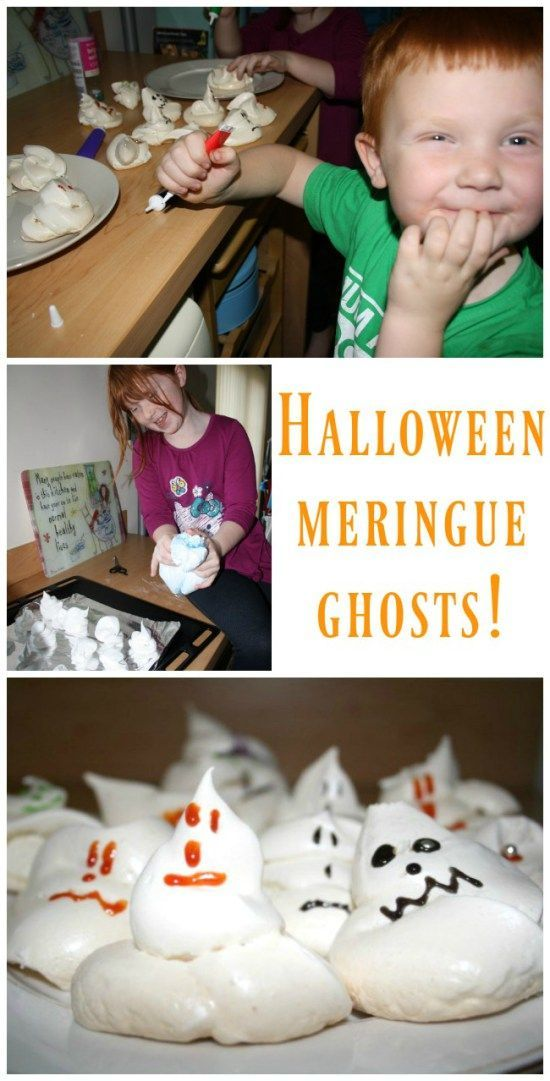 How to make Halloween meringue ghosts Halloween ideas, Spooky - halloween treat ideas for toddlers