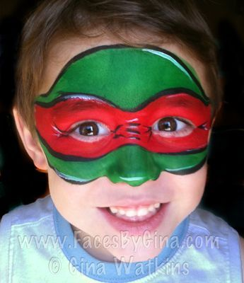 Ninja Schildkrote Gesicht Farbe Schminke