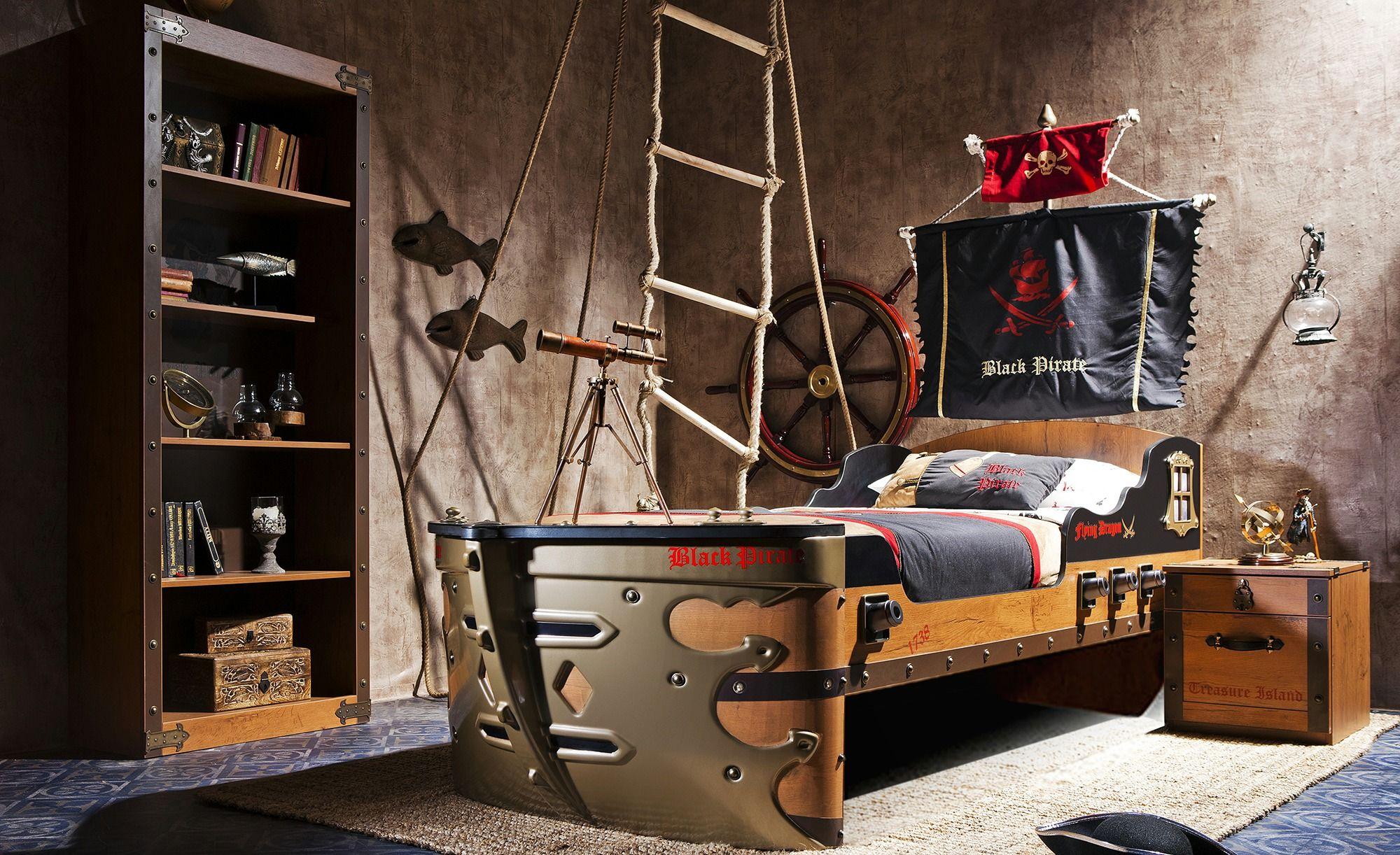 Bett Black Pirate, gefunden bei Möbel Höffner in 2020