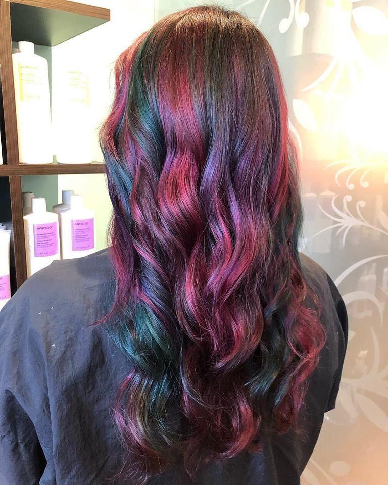 Mermaid Hair Jen Created This Beautiful Masterpiece Getfresh Charlottesalon Beautiful Arrojo Hai Mermaid Hair Long Hair Styles Mermaid Hair Extensions