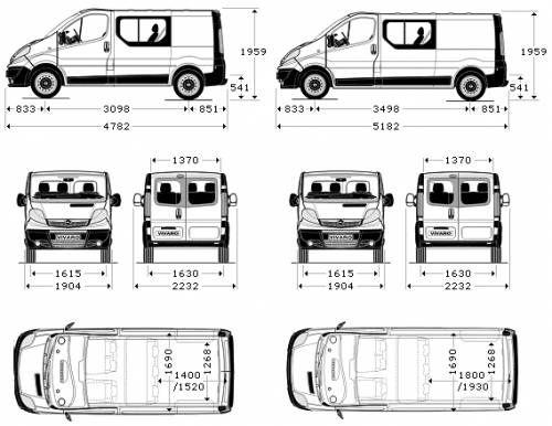 Blueprints > Cars > Vauxhall > Vauxhall-Opel Vivaro Double
