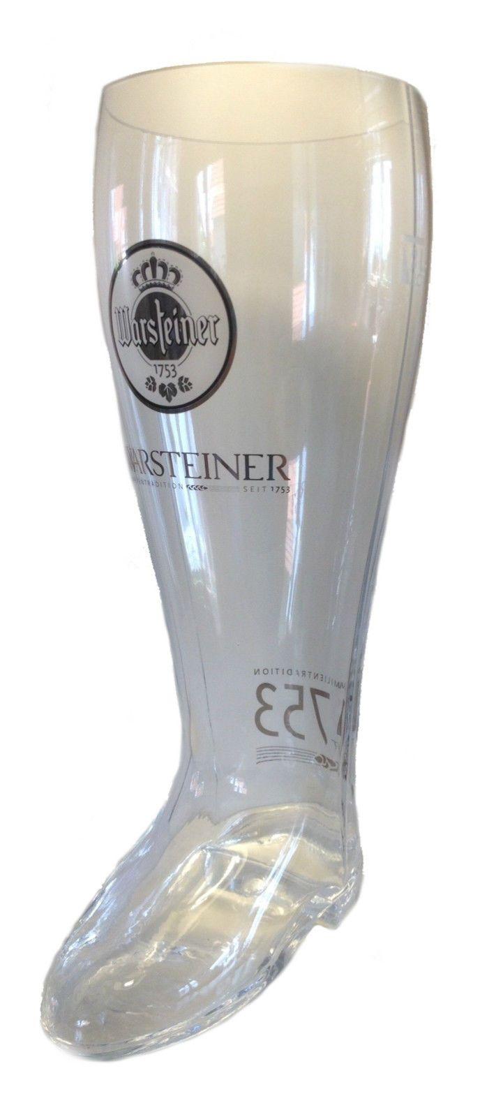 Warsteiner - 2 liter - german beer glass boot -