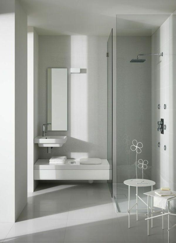 Moderne Badezimmer Bodengleiche Dusche Kleines Bad | Toiletten