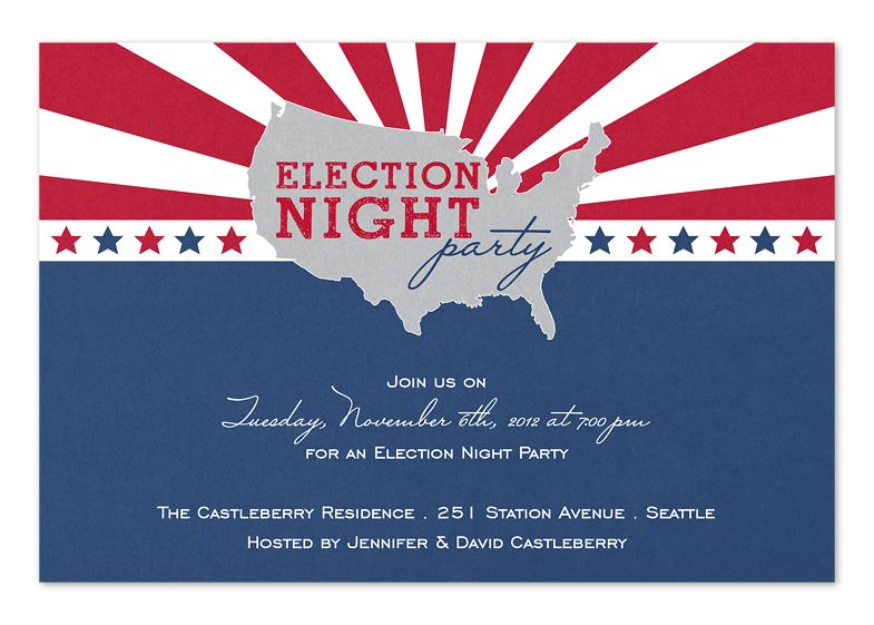 Election night party invitations themed party ideas pinterest united states election party invitations by invitation consultants item ic rlp stopboris Image collections