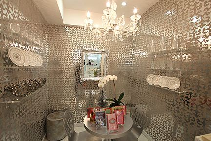 Brocade Home Mirrored Wallpaper Opens Up A Room