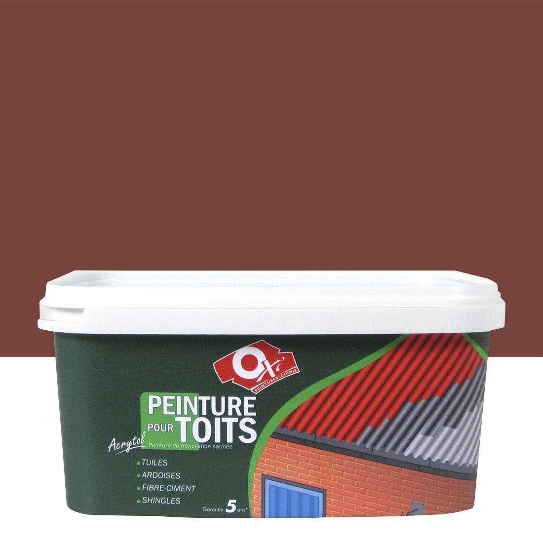 Peinture Toiture Exterieur Acrytol Oxytol Rouge 2 5 L Oxi Peinture Toiture Toiture Et Fibre Ciment