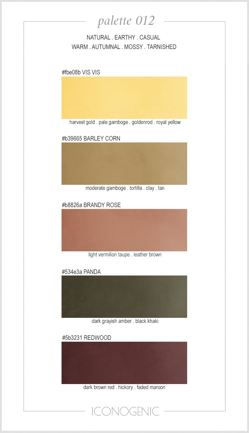Warm shaded color palette by Iconogenic  Gamboge, Brandy