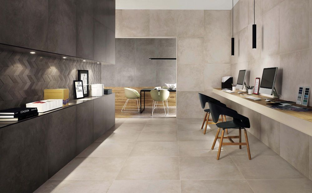 Minoli Tiles - DreamWell - Give an urban design with the new concrete effect porcelain tile called DreamWell by Minoli. With a high aesthetic value and rich details of a concrete look tile, contemporariness will be your ally! Floor tiles: DreamWell White Matt 75 x 75 cm - https://www.minoli.co.uk/tiles/dreamwell-white/ - #Minoli #minolitiles #porcelain #tile #porcelaintile #tiles #concrete #look #concretelook #effect #concreteeffect #DreamWell #White #Matt #collection2016