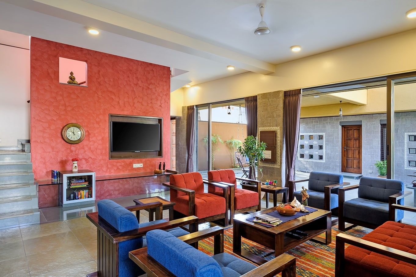 Indian Style Interior Living room Design COURTYARD