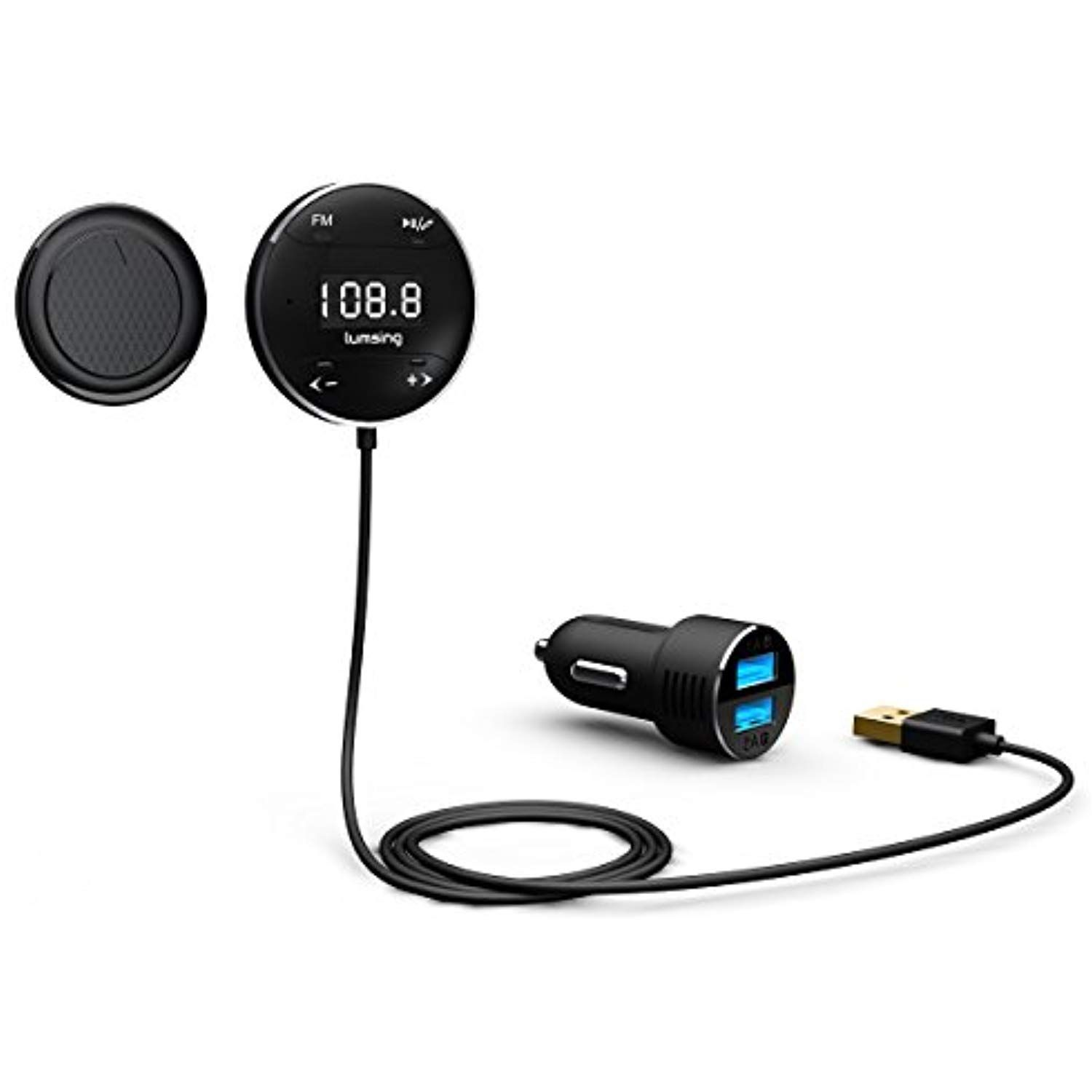 Bluetooth 4.0 Car FM Transmitter Radio Adapter USB Charger For iPhone XS XR 8 7
