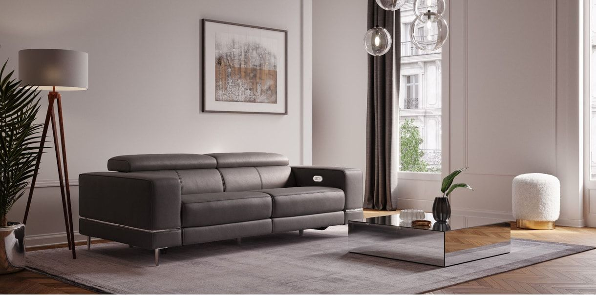 Pleasant Bergamo Motion Sofa Dark Gray In 2019 80S Contemporary Uwap Interior Chair Design Uwaporg