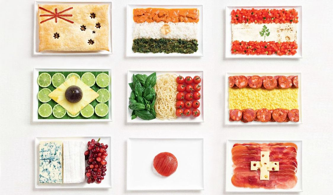 Edible national flags made of iconic foods for Australia ...